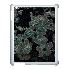 Glowing Flowers In The Dark C Apple iPad 3/4 Case (White)