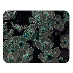 Glowing Flowers In The Dark C Double Sided Flano Blanket (Large)