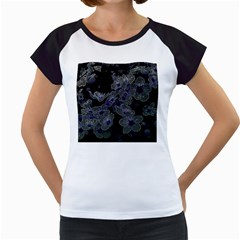 Glowing Flowers In The Dark B Women s Cap Sleeve T
