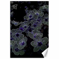 Glowing Flowers In The Dark B Canvas 20  x 30