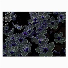 Glowing Flowers In The Dark B Large Glasses Cloth (2-Side)