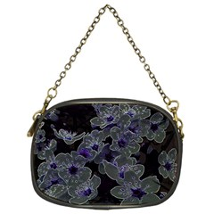 Glowing Flowers In The Dark B Chain Purses (One Side)