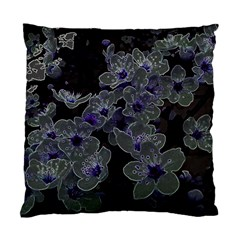 Glowing Flowers In The Dark B Standard Cushion Case (Two Sides)