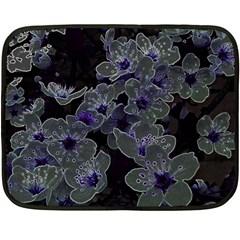 Glowing Flowers In The Dark B Fleece Blanket (Mini)