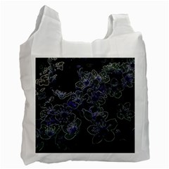 Glowing Flowers In The Dark B Recycle Bag (One Side)
