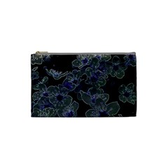 Glowing Flowers In The Dark B Cosmetic Bag (Small)