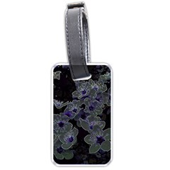 Glowing Flowers In The Dark B Luggage Tags (Two Sides)