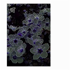 Glowing Flowers In The Dark B Small Garden Flag (Two Sides)