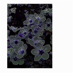 Glowing Flowers In The Dark B Large Garden Flag (Two Sides)