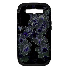 Glowing Flowers In The Dark B Samsung Galaxy S III Hardshell Case (PC+Silicone)