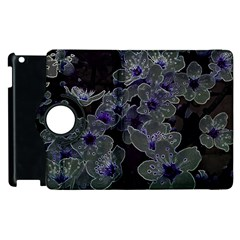 Glowing Flowers In The Dark B Apple iPad 2 Flip 360 Case