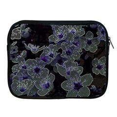 Glowing Flowers In The Dark B Apple iPad 2/3/4 Zipper Cases