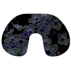Glowing Flowers In The Dark B Travel Neck Pillows