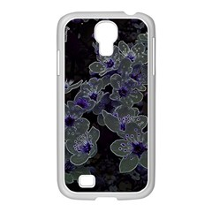 Glowing Flowers In The Dark B Samsung GALAXY S4 I9500/ I9505 Case (White)