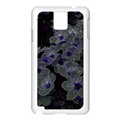 Glowing Flowers In The Dark B Samsung Galaxy Note 3 N9005 Case (White)