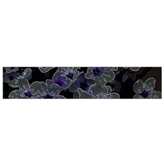 Glowing Flowers In The Dark B Flano Scarf (Small)