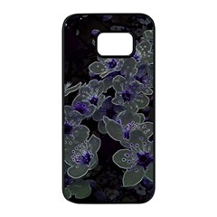 Glowing Flowers In The Dark B Samsung Galaxy S7 edge Black Seamless Case