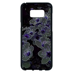 Glowing Flowers In The Dark B Samsung Galaxy S8 Plus Black Seamless Case