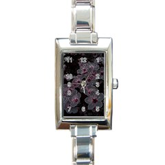 Glowing Flowers In The Dark A Rectangle Italian Charm Watch