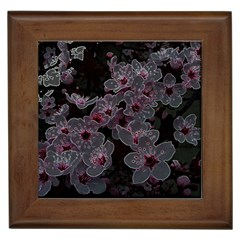 Glowing Flowers In The Dark A Framed Tiles