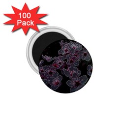 Glowing Flowers In The Dark A 1.75  Magnets (100 pack)
