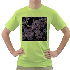 Glowing Flowers In The Dark A Green T-Shirt