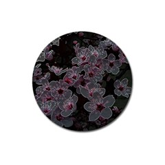 Glowing Flowers In The Dark A Magnet 3  (Round)