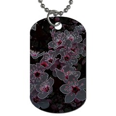Glowing Flowers In The Dark A Dog Tag (Two Sides)