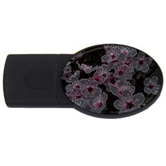Glowing Flowers In The Dark A USB Flash Drive Oval (1 GB)