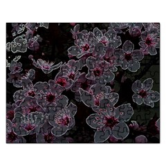 Glowing Flowers In The Dark A Rectangular Jigsaw Puzzl