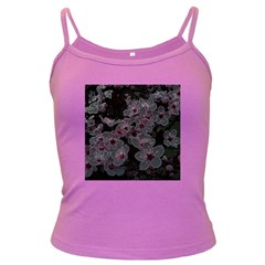 Glowing Flowers In The Dark A Dark Spaghetti Tank