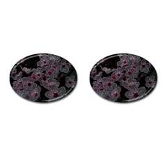 Glowing Flowers In The Dark A Cufflinks (Oval)