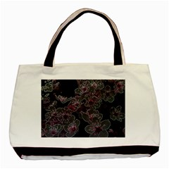 Glowing Flowers In The Dark A Basic Tote Bag