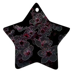 Glowing Flowers In The Dark A Star Ornament (Two Sides)