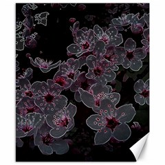 Glowing Flowers In The Dark A Canvas 8  x 10