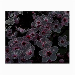 Glowing Flowers In The Dark A Small Glasses Cloth (2-Side)