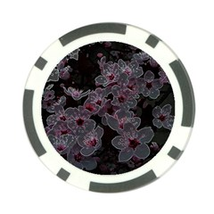 Glowing Flowers In The Dark A Poker Chip Card Guard