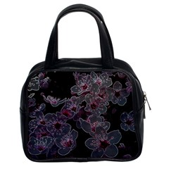 Glowing Flowers In The Dark A Classic Handbags (2 Sides)