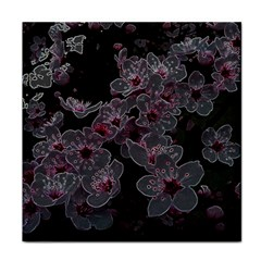 Glowing Flowers In The Dark A Face Towel