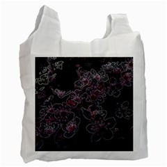 Glowing Flowers In The Dark A Recycle Bag (Two Side)