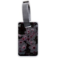 Glowing Flowers In The Dark A Luggage Tags (Two Sides)