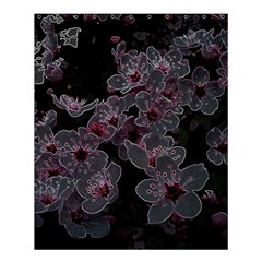 Glowing Flowers In The Dark A Shower Curtain 60  x 72  (Medium)