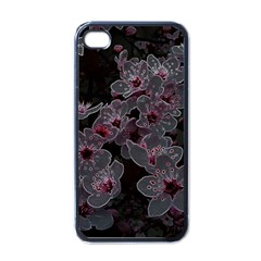 Glowing Flowers In The Dark A Apple iPhone 4 Case (Black)