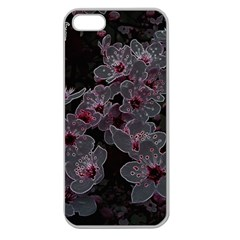 Glowing Flowers In The Dark A Apple Seamless iPhone 5 Case (Clear)