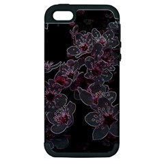 Glowing Flowers In The Dark A Apple iPhone 5 Hardshell Case (PC+Silicone)
