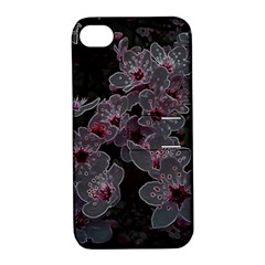 Glowing Flowers In The Dark A Apple iPhone 4/4S Hardshell Case with Stand