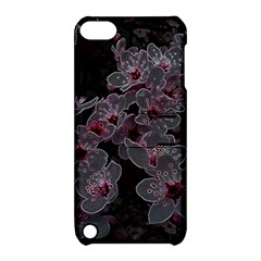 Glowing Flowers In The Dark A Apple iPod Touch 5 Hardshell Case with Stand