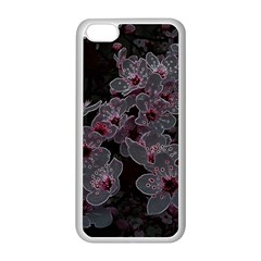 Glowing Flowers In The Dark A Apple iPhone 5C Seamless Case (White)