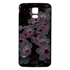 Glowing Flowers In The Dark A Samsung Galaxy S5 Back Case (White)