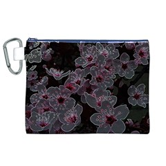 Glowing Flowers In The Dark A Canvas Cosmetic Bag (XL)